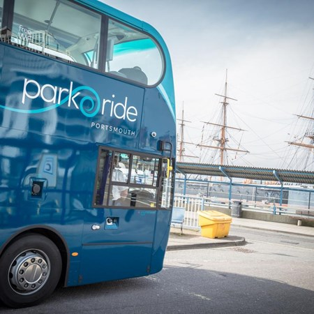 Park And Ride Bus In Portsmouth Dockyard